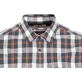 Fjällräven Singi Flannel - T-shirt manches longues Homme - gris/rouge
